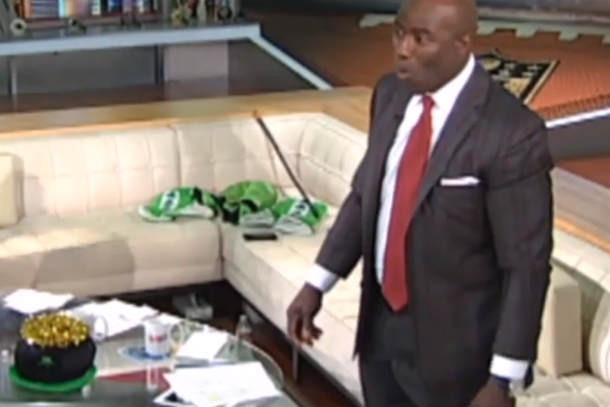 terrell davis reacts to earthquake