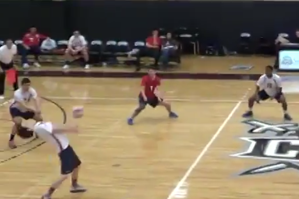 volleyball spike to face