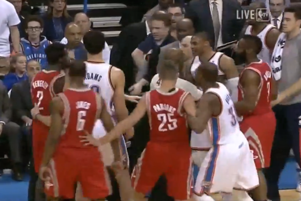 westbrook beverley fight