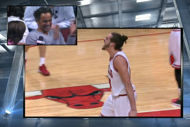 yannick noah in-game interview bulls heat