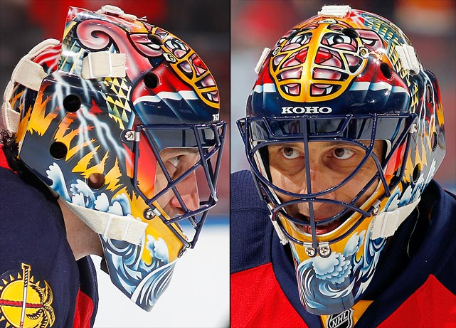 12 roberto luongo (florida panthers) - best goalie masks nhl 2013-14