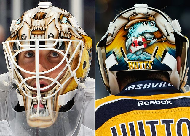 14 carter hutton (nashville predators) - best goalie masks nhl 2013-14