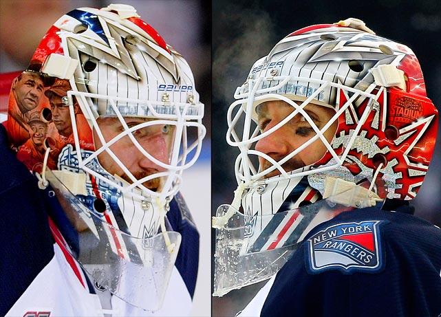 15 henrik lunqvist (new york rangers) stadium series - best goalie masks nhl 2013-14