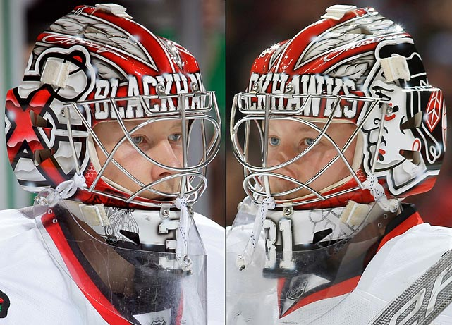 19 antti raanta (chicago blackhawks) - best goalie masks nhl 2013-14