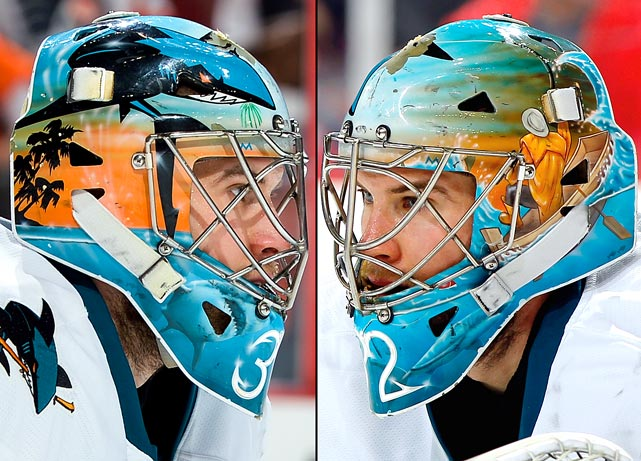 20 alex stalock (san jose sharks) - best goalie masks nhl 2013-14