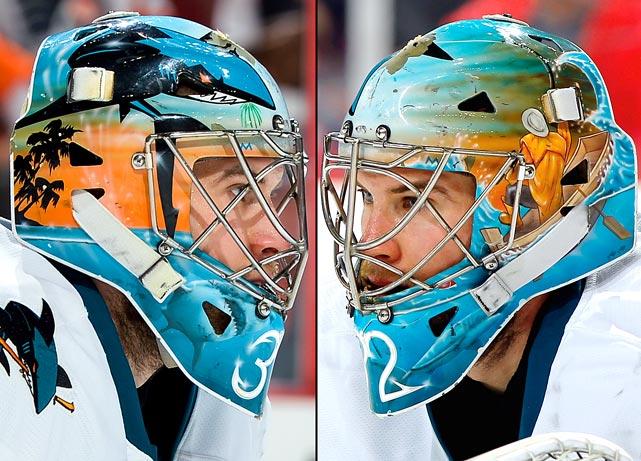 20 alex stalock (san jose sharks) - best goalie masks nhl 2013-14