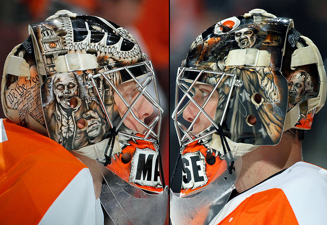 5 steve mason (philadelphia flyers) two - best goalie masks nhl 2013-14