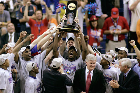 7 kansas jayhawks basketball 2008 national championship - most college basketball championships