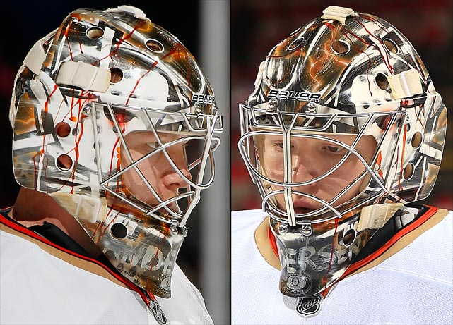 9 frederik andersen (anaheim ducks) - best goalie masks nhl 2013-14