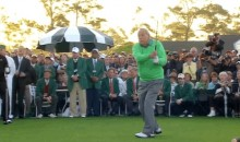 Arnold Palmer, Jack Nicklaus, and Gary Player Hit Ceremonial Tee Shots at The 2014 Masters (GIFs + Video)