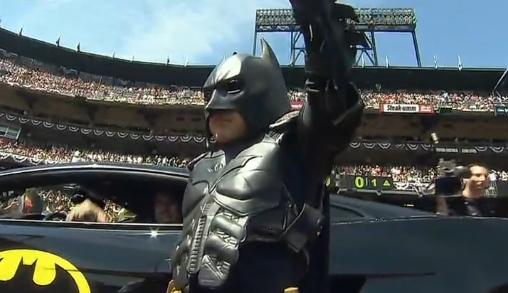 Batkid ceremonial first pitch