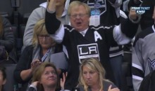 The LA Kings Had a Crazy Dad in Their Corner Against the Ducks (Video)