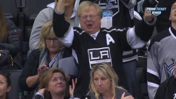 Crazy LA Kings dad