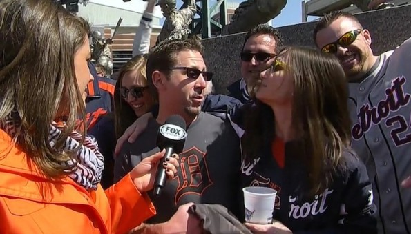 Divorced Couple at Tigers' Opening Day