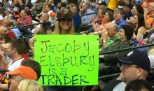 Count the Errors on This Red Sox Fan's Sign (Photo)