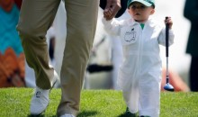 Scott Stallings' Baby Son Lights Up Masters Par 3 Contest (Photos)
