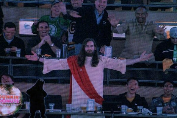 Jesus at Bruins Game