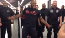 "Jon ""Bones"" Jones Does Ray Lewis Dance During UFC 172 Entrance (Video)"