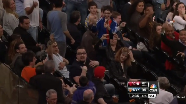 Knicks heckler ejected