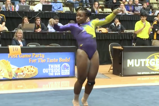 Lloimincia Hall hip hop gymnastics routine