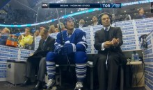 Toronto Maple Leafs Penalty Box Guy is Looking Good (Video)