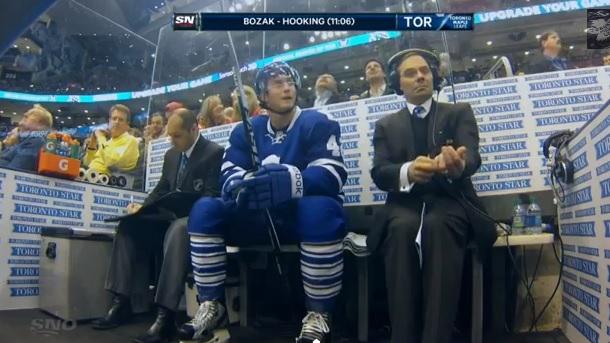 Maple Leafs penalty box guy