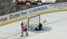 Marc-Andre Fleury Makes a Ridiculous Cartwheel Save on Daniel Alfredsson in Shootout (Video)