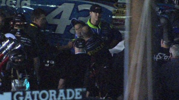 Marcos Ambrose Punching Casey Mears After NASCAR Race