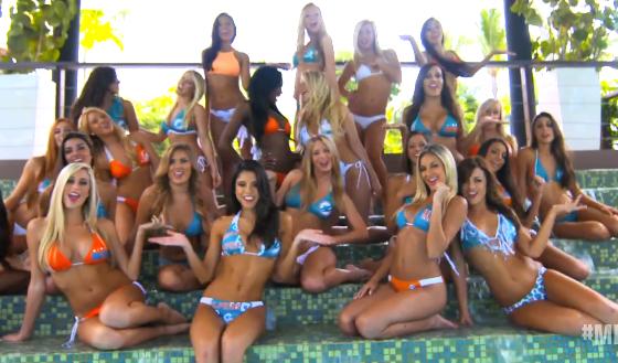 Miami Dolphins Cheerleaders Fantasy lip dub