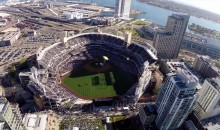"POV Video: Navy SEALs ""Leap Frog"" Team Parachutes Into Petco Park on Opening Night"