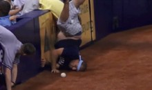 Guy at Rays Game Spills Onto Field, Faceplants (GIF)