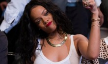 Rihanna Goes to Nets-Raptors Game 3 Braless (Video)