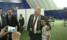 Toronto Mayor Rob Ford Blasts Penalty Kicks Past a Young Soccer Goalie (Video)
