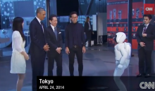 Watch President Barack Obama Take On a Japanese Robot in Soccer (Video)