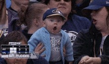 Shocked Brewers Baby is Adorable (GIF)