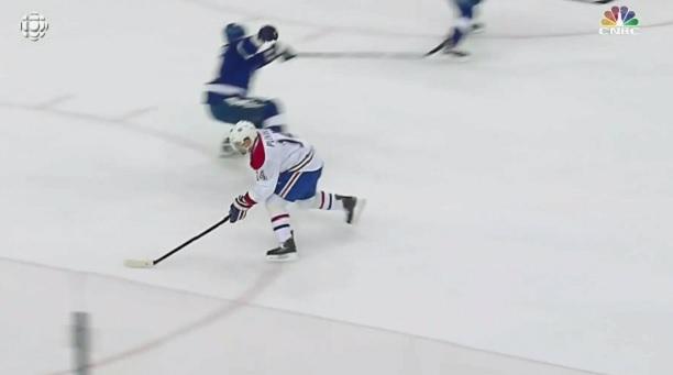 Tomas Plekanec fake shot break Gudas ankles
