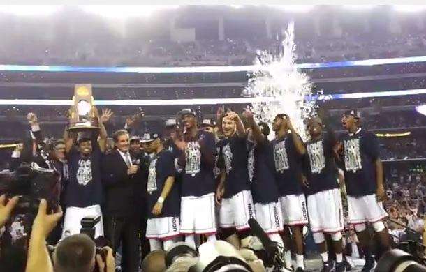 UConn celebrate 2014 National title