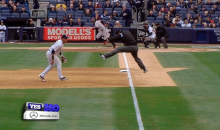 Watch Rock 'N' Roll Umpire Will Little Avoid a Fair Ball in the Coolest Way (GIF)