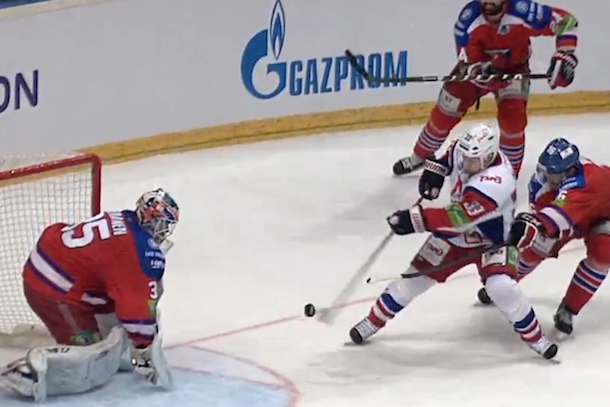amazing juggling khl hockey goal