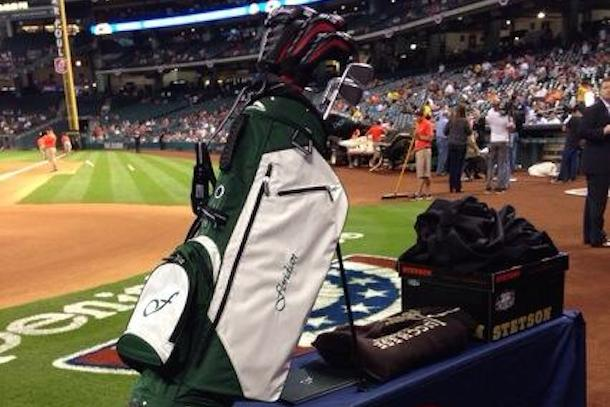 astros retirement gift to derek jeter (golf clubs)