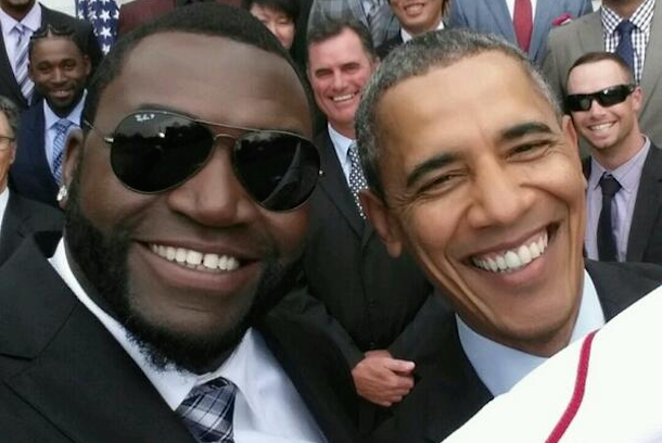big papi david ortiz selfie with obama