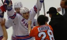 Dan Carcillo Scores Goal, Trolls Flyers Fans (GIFs)
