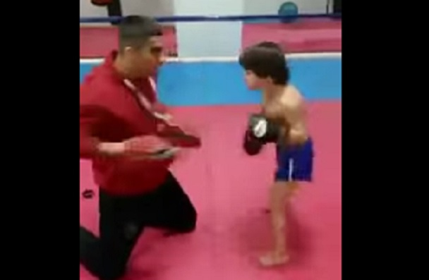 child kickboxer