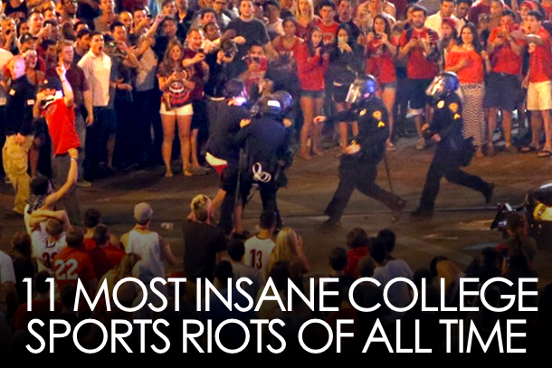 college sports riots
