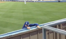 Two Fans Hop Over Outfield Fence During Dodgers Game, One Actually Escapes (Videos)