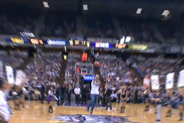 fan wins car half court shot sacramento kings game