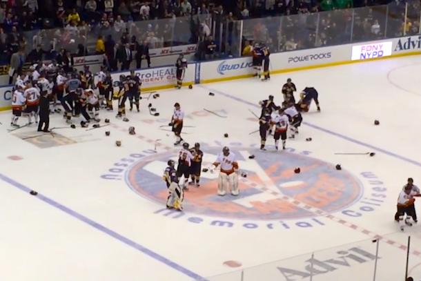 fdny nypd hockey brawl