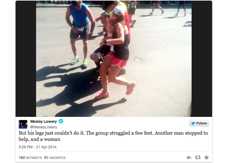 feel-good boston marathon finish 2