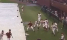 Jameis Winton and the FSU Baseball Team Re-Enact the BCS-Winning Touchdown During Rain Delay (Video)
