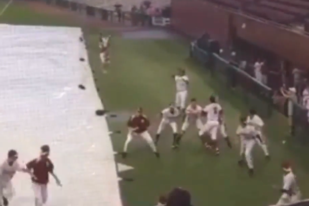 jameis Winston recreates winning play bcs championship game during fsu baseball rain delay